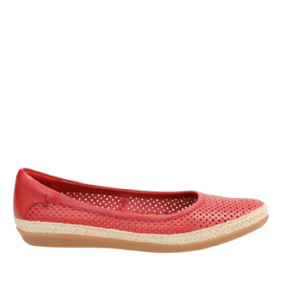 Clarks Danelly Adira Red Leather Womens Shoes
